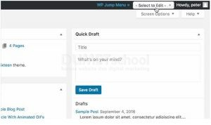 Cara Membuat Jump Menu Pada Area Dashboard WordPress