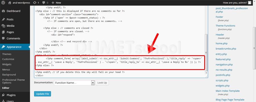Cara Menghilangkan Tulisan HTML di Bawah Form Comment pada WordPress