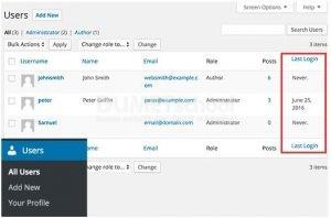Cara Tampilkan Tanggal Login Terakhir Pengguna di WordPress