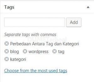 Perbedaan Antara Tag dan Kategori